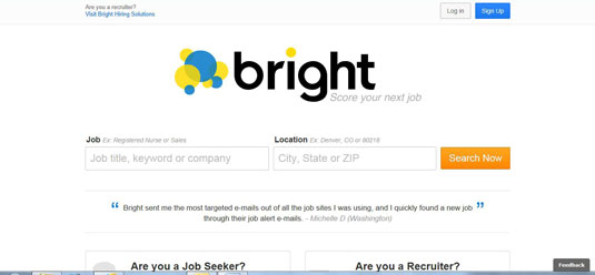 The site Bright.com helps you decide which jobs to apply for.