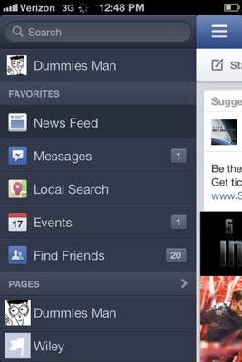 How to Use the Facebook App on Your iPhone - dummies