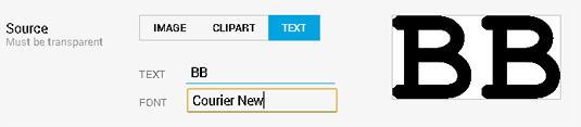 Using Courier New font.