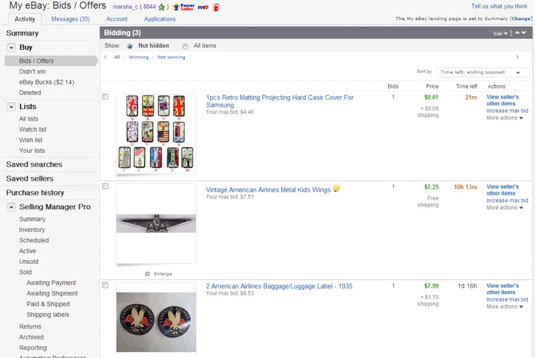 How To Track Your Buying Activity On Ebay Dummies