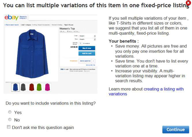 How To List Multiples Of An Item For Sale On Ebay With Variations Dummies