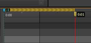 Animating forward by moving the Playhead down the timeline.