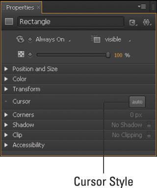 Click the Cursor Style button to open the Cursor Attributes.