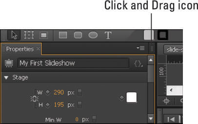 The Click and Drag icon for panels.