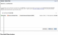 Users can add or remove files in the Upload File window on Amazon Web Services.