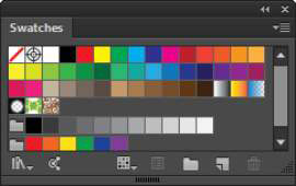A color swatch in InDesign