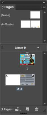 The Pages panel in InDesign
