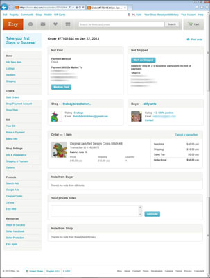 How To Open A Sales Invoice On Etsy Dummies - Etsy invoice template