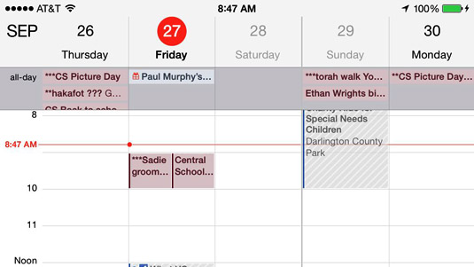 Weekly Calendar View For Iphone Scrollable : The views of iphone calendar app dummies