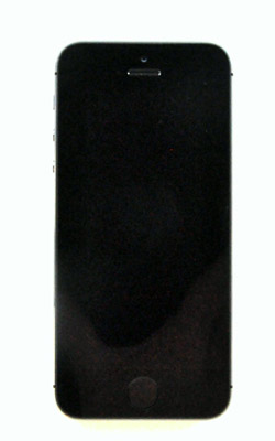 The front of the iPhone 5 is a study in elegant simplicity.