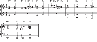 Figure 16: Using diminished 7th chords as passing chords.