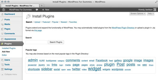 How to Find and Install Free WordPress Plugins - dummies