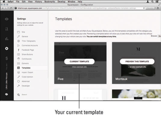 Using the york template – squarespace help.