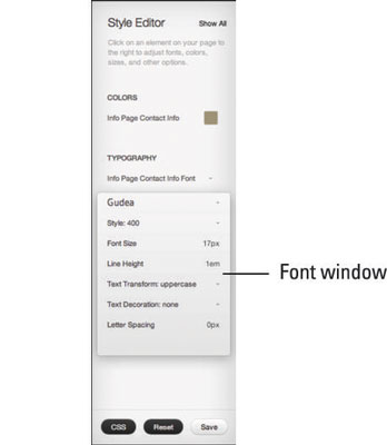 How to Customize Fonts in Squarespace - dummies