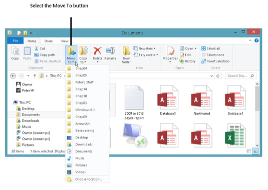 How to Move Windows 8 1 Files from One Folder to Another