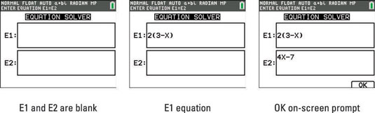 TI-84 Plus Calculator's Equation Solver - dummies