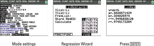 Regression Modeling on the TI-84 Plus - dummies