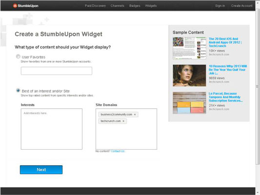 How to Add the StumbleUpon Badge and Widget to Your Website