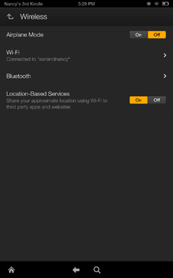 Wireless settings allow you to select an available network to join.