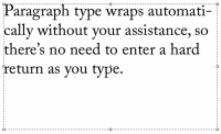 Creating paragraph type in Photoshop.