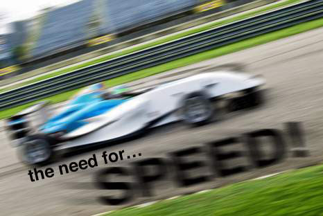 Applying a motion blur to type can make it appear as fast as the car. [Credit: ©istockphoto.co