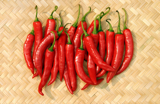 Chile peppers.