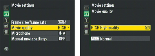 This setting determines the maximum bit rate (Mbps).
