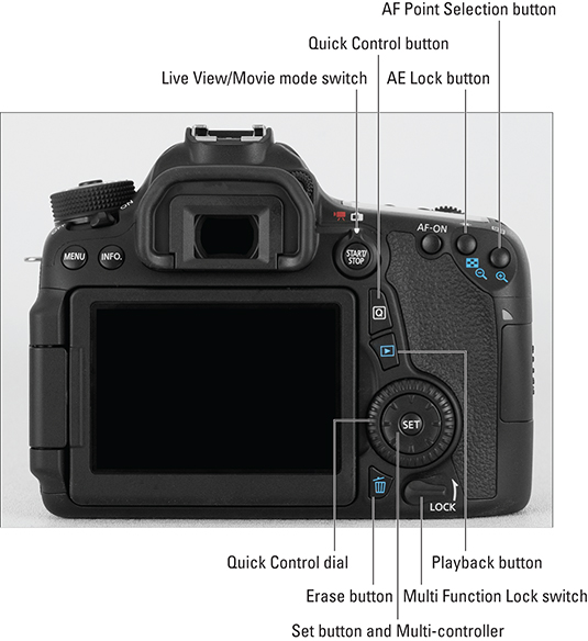 The Canon Eos 70d Camera Layout Dummies