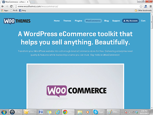 WooCommerce allows WordPress users to add an eCommerce feature to their sites.