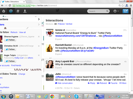 The Search function on Twitter allows you to find existing conversations around topics that interes
