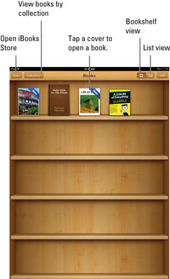 The Following Basics Help You Navigate IBooks Main Screen