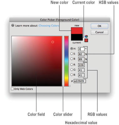Choose your desired color from the Color Picker.