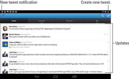 How to Use Twitter on the Nexus 7 Tablet - dummies