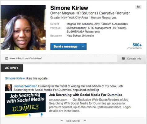 Update Your Linkedin Status When Networking For A Job Search Dummies
