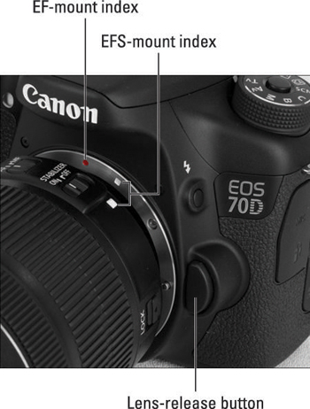 How to Attach or Remove a Lens from a Canon EOS 70D - dummies