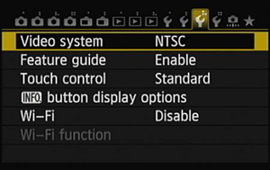 Head to Setup Menu 3 to enable or disable the Wi-Fi functions.