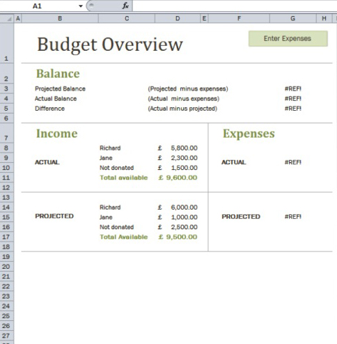 Use Excel Templates For Budget And Charitable Giving Plans