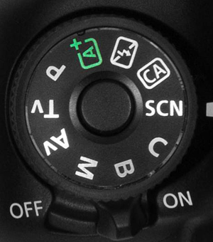 Figure 1 Set the Mode dial to SCN to access the scene modes.