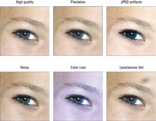 Refer to this symptom guide to determine the cause of poor image quality.