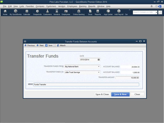 To Use The Transfer Funds Between Accounts Window Follow These Steps