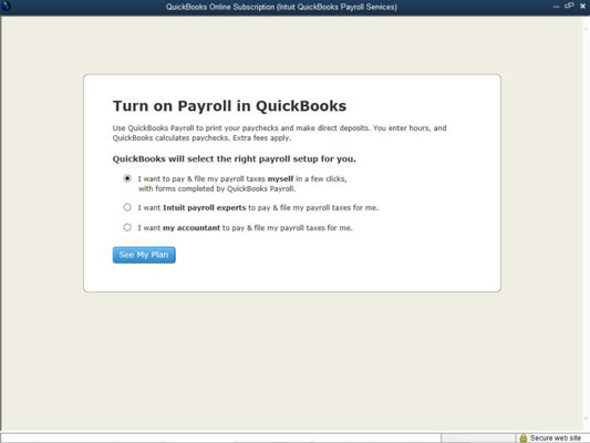 How to set up basic payroll in quickbooks dummies to set up quickbooks payroll you indicate who you want to be paying payroll taxes and filing payroll tax returns you intuit or your accountant altavistaventures Images