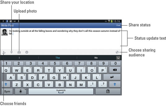 How to Use Facebook on Your Samsung Galaxy Tablet - dummies