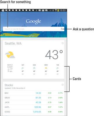 Incredible Basics Of Google Now On Your Samsung Galaxy Tablet Dummies Beutiful Home Inspiration Semekurdistantinfo