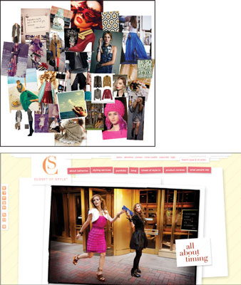 [Credit: © Mood board by Laurie Smithwick, LEAP Design, Clost of Style image © Closet of