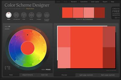 The Color Scheme Designer website.