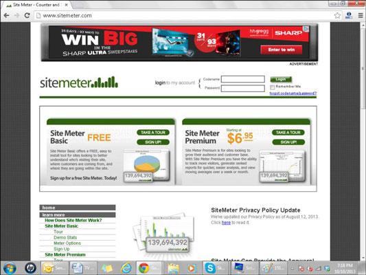 The Site Meter website.