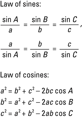 Laws of Sines and Cosines - dummies