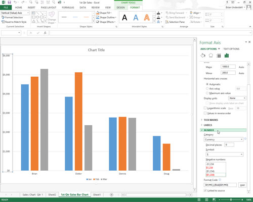 How To Format The X And Y Axis Values On Charts In Excel