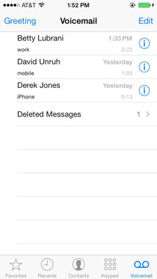 Basics of iphone voicemail dummies basics of visual voicemail on your iphone m4hsunfo