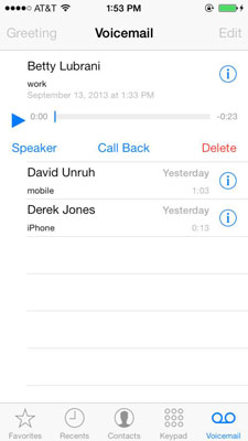 Basics of iphone voicemail dummies to listen to and control playback of a voicemail message m4hsunfo